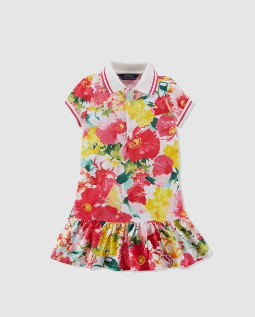 d26c7c911 Vestido de niña Polo Ralph Lauren con estampado de flores | chaqueta ...