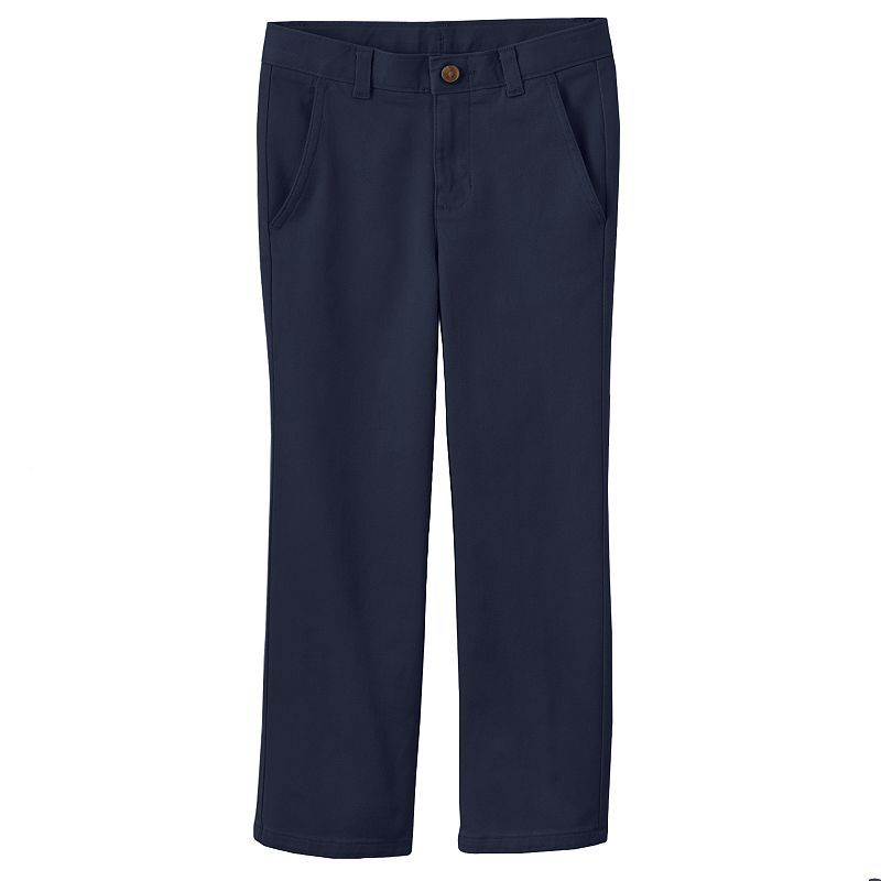 Chaps Boys Flat Front Twill Pant with Stretch