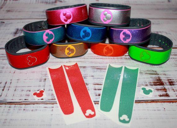 Glitter Magic Band Skin Decals PLUS Mickey by SweetGeorgiaDesigns