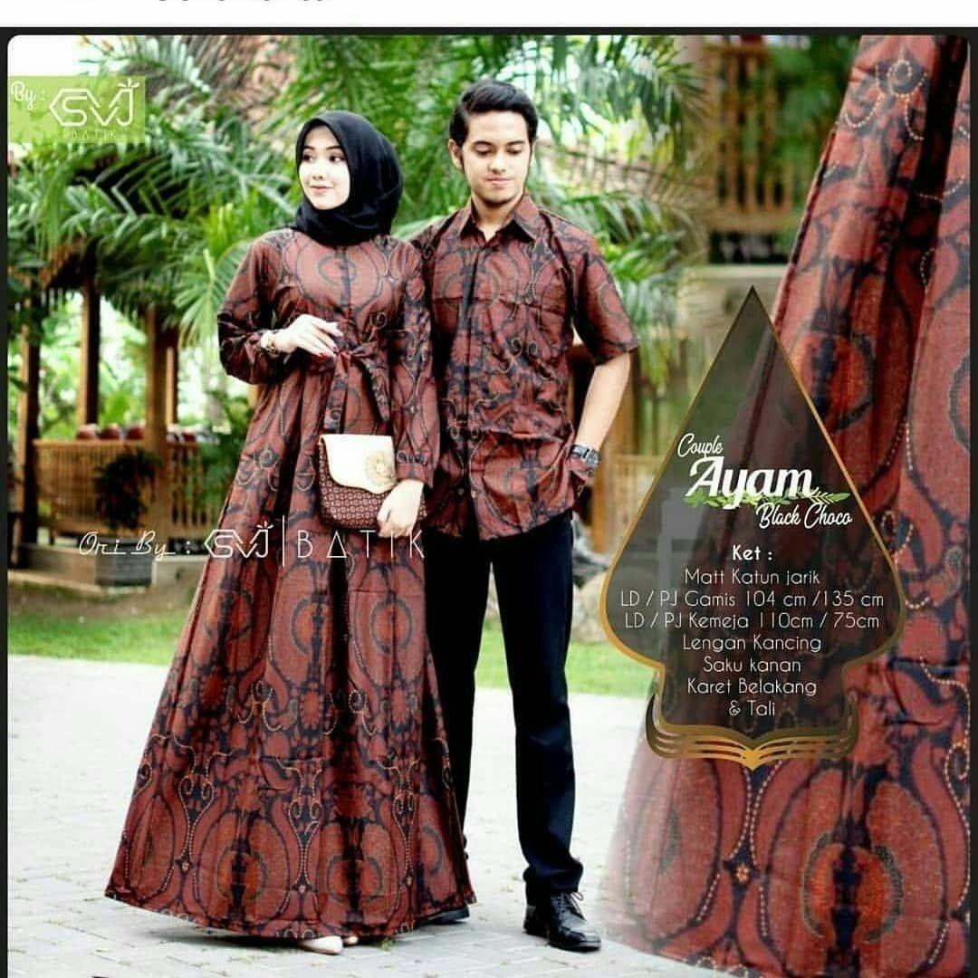Baju Gamis Batik Cantik Terbaru