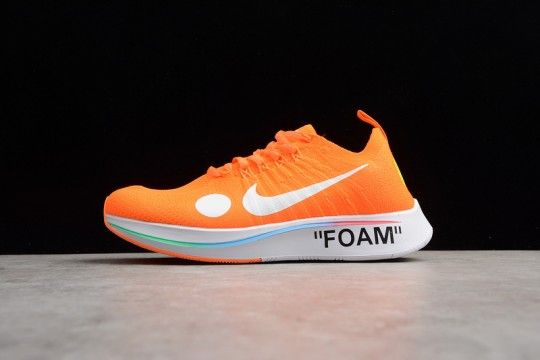 adb191780d3 OFF-WHITE x Nike Zoom Fly Mercurial Flyknit  Total Orange  AO2115 ...