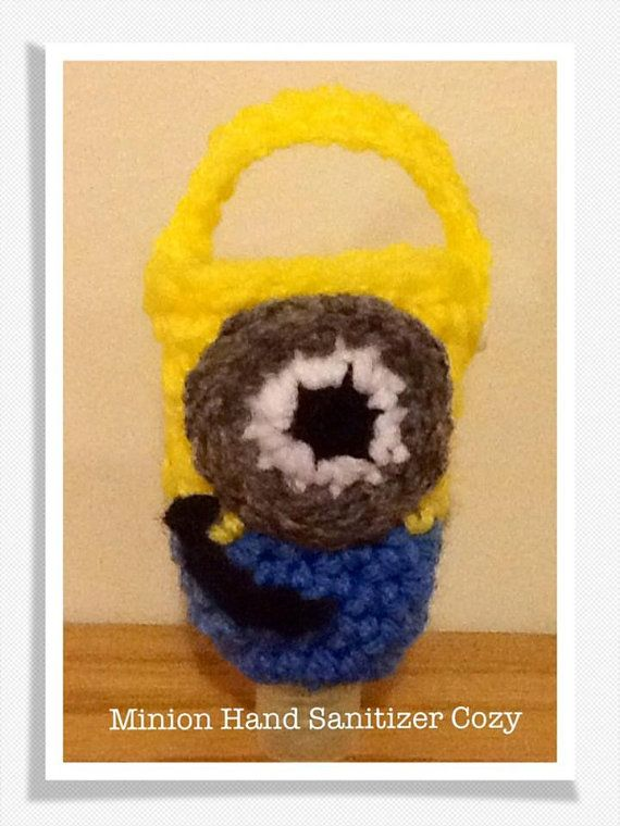 Minion Hand Sanitizer Cozy 1 Oz Bottle Crochet Pattern 2 00
