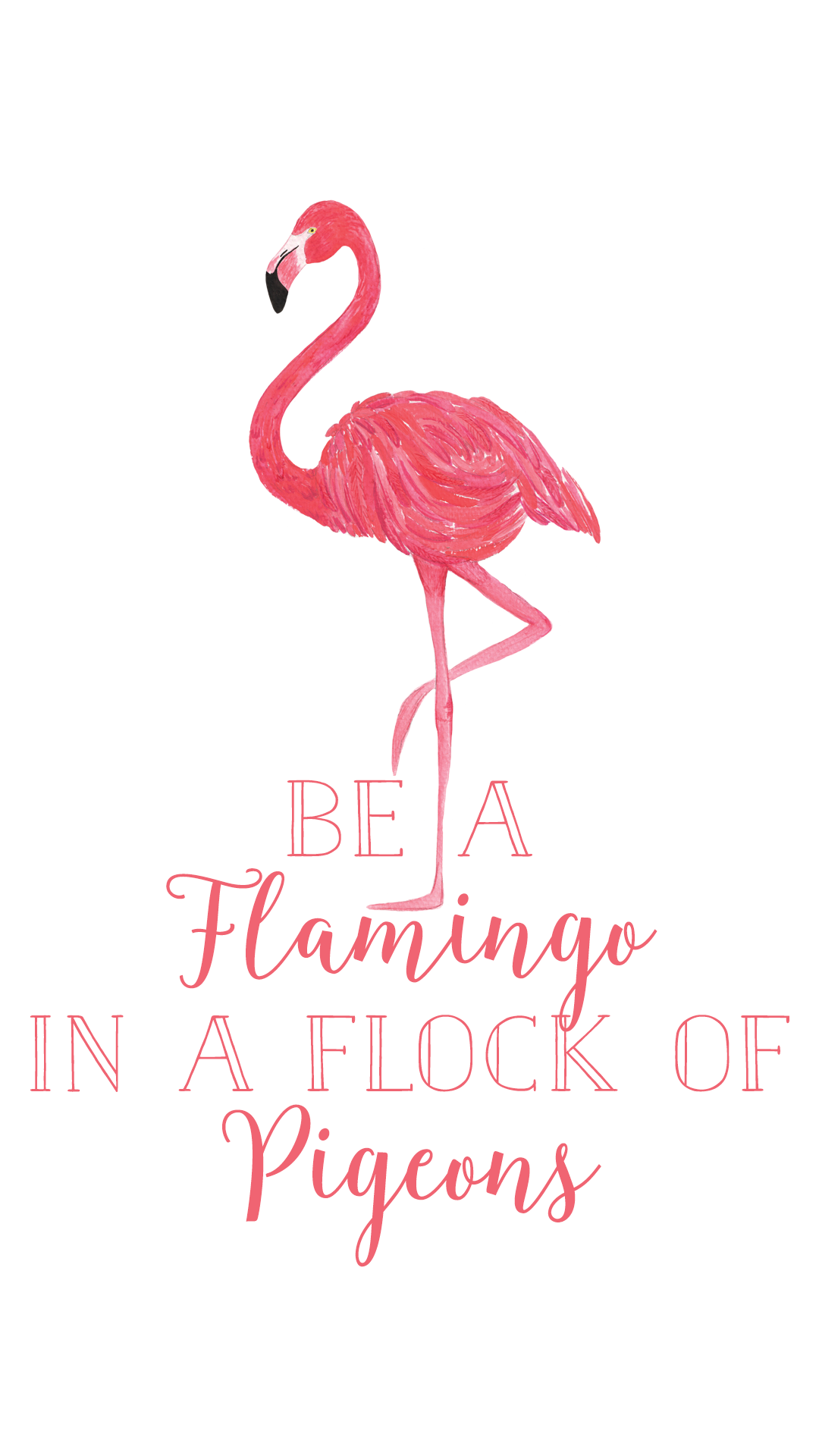 Be a Flamingo Phone Background (With images) Flamingos