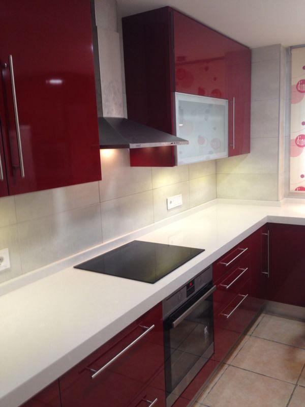 Reforma de cocina realizada en Alicante. Combinación de ...