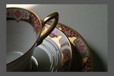 GRÄF  KRIPPNER Kaffeegedeck Gedeck Art Deco Kaffeetasse Porzellan