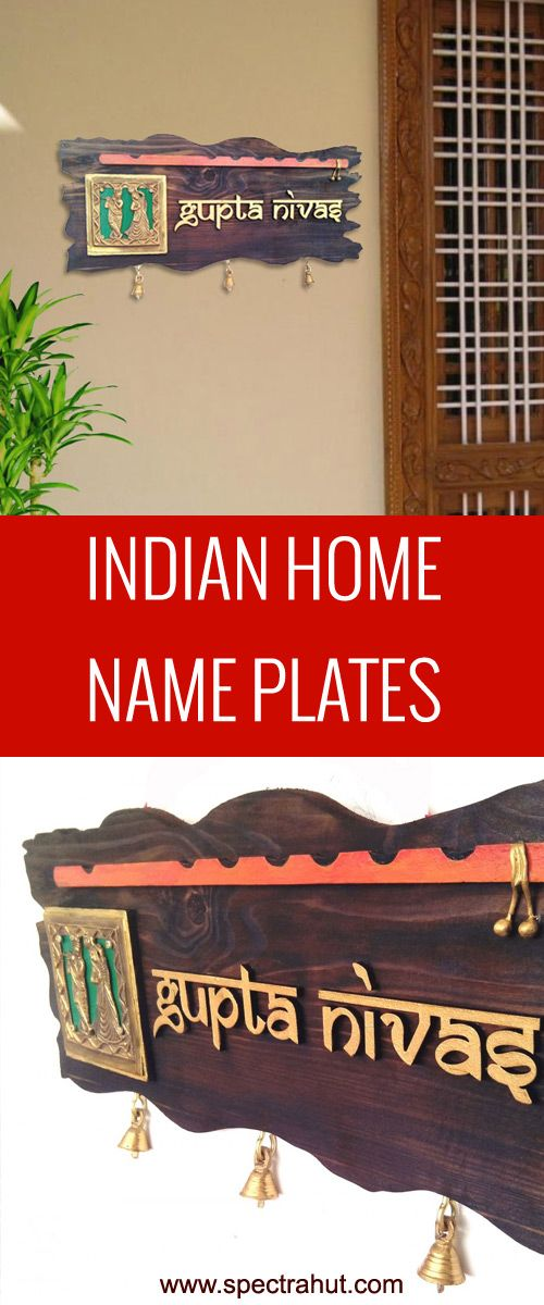 Indian Home Decor Ethnic Nameplate For Home Doors Bring A