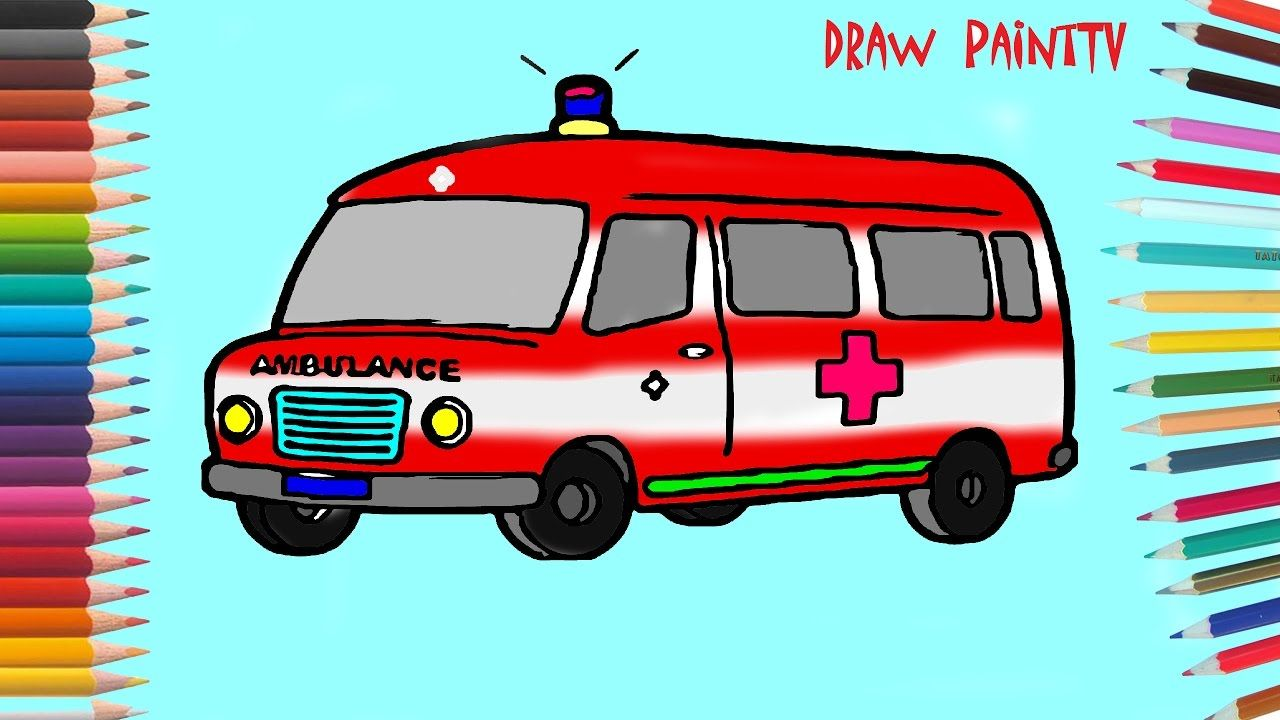 Ambulance Car Coloring Page Coloring Book Videos For Children Learni Cars Coloring Pages Coloring Books Coloring Pages