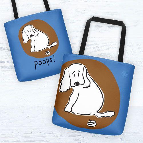Poops! | Tote bag | Jojopowpow