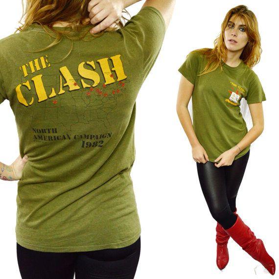2e892397d33 Vintage 80s THE CLASH Combat Rock Know Your by DopedollVintage ...