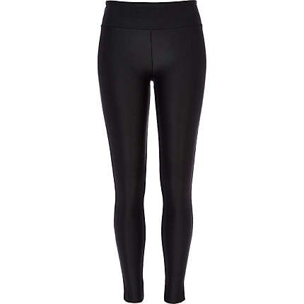 Okay, so here are the 'Sandy' look leggings with a twist! Black Ribbed High Waisted Disco Leggings £25.00. Also from River Island. *Ribbed meaning thin stripes*