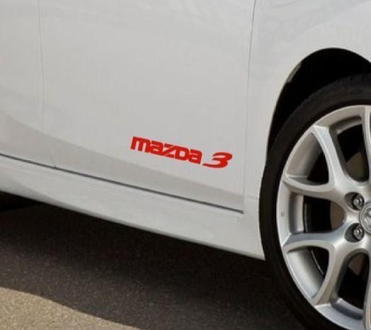 Mazda 3 mazdaspeed hatchback decal sticker emblem logo red pair