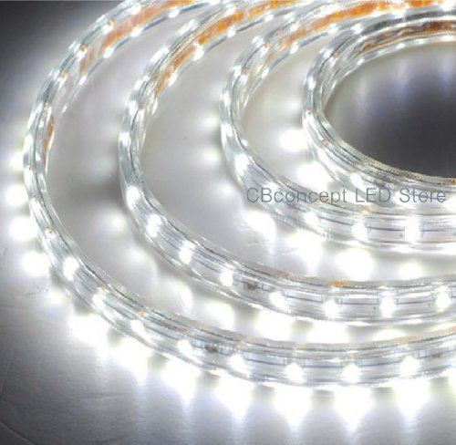 Cbconcept 16 4ft Pure White 120 Volt High Output Led Smd5050 Flexible Flat Led Strip Rope Light Christmas Li With Images Outdoor Rope Lights Rope Light Led Rope Lights