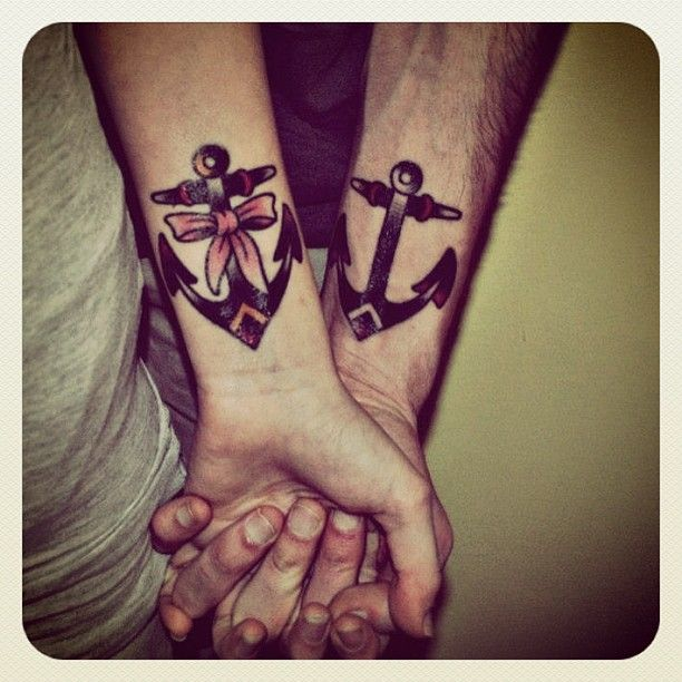 His And Hers Anchors, Symbol Of Being Grounded And -5439