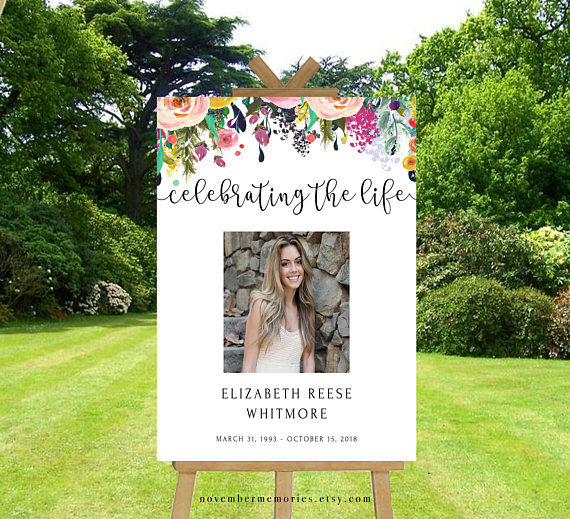 H O W T O U S E 1 Purchase The Template 2 Right After Youve Placed Your Order You Celebration Of Life Memorial Service Decorations Funeral Party