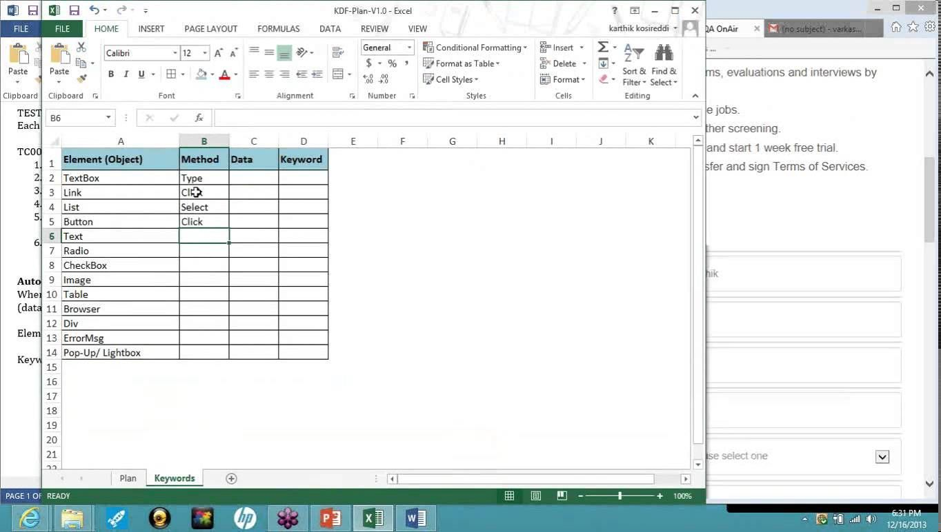 Creating A Keyword Driven Framework Using Selenium Webdriver And