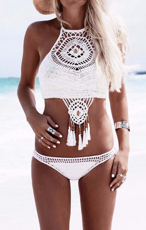 f68016d7fb4eb Dream Catcher Crochet Bikini - Lovecy - 1   Beach   Knitted swimsuit ...