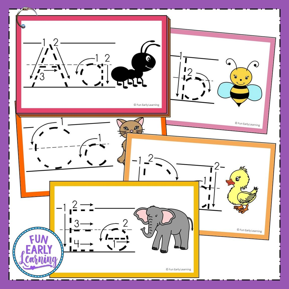 Teach Letters And Writing With Our Free Alphabet Animal Tracing Cards Alphabet Activities Preschool Tracing Letters Preschool Alphabet Preschool [ 1152 x 1152 Pixel ]