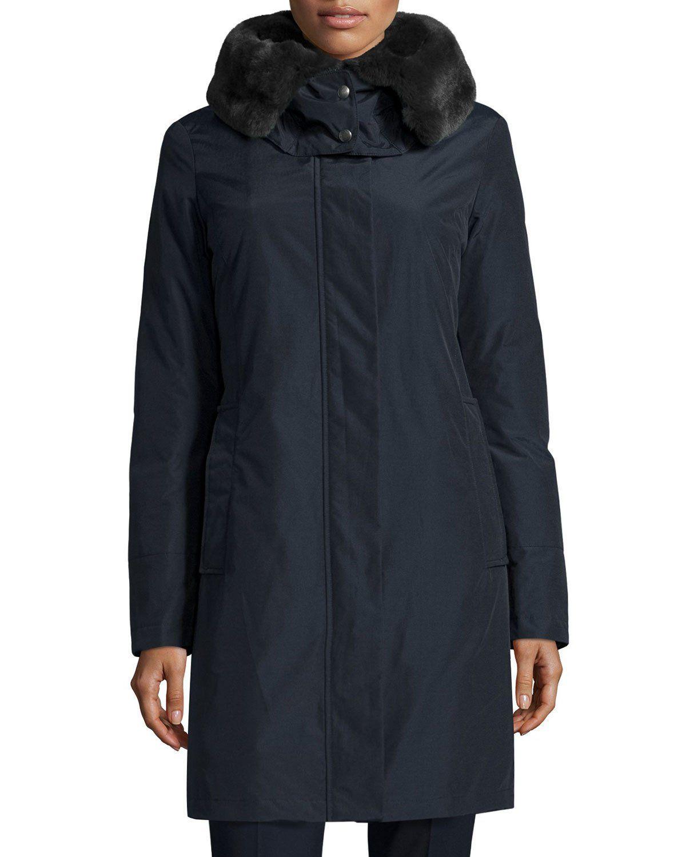 Bow Bridge Hooded Tech-Fabric Jacket, Dark Navy