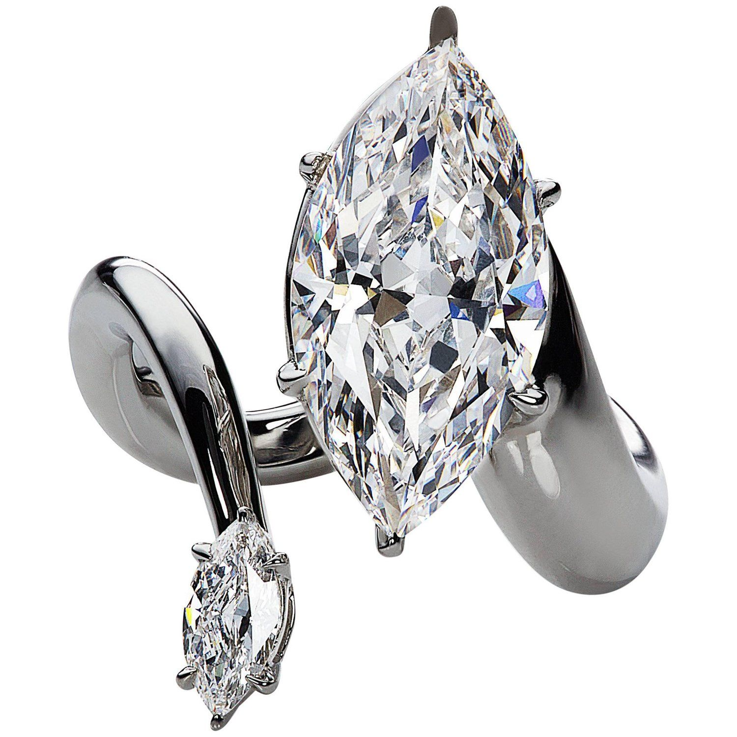 Debeers millenium gia certified carat marquise cut diamond and