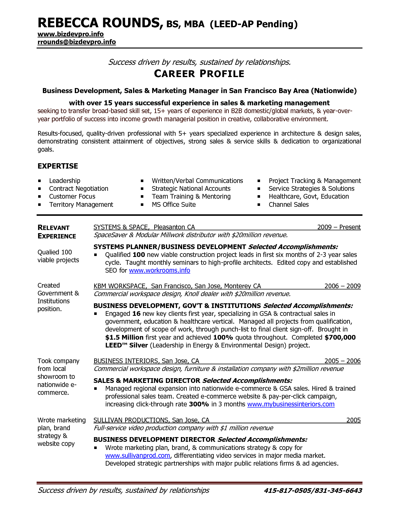 Business Development Manager Resume | Sample Resume Center ...