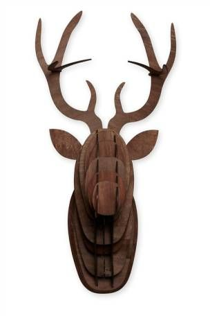 Lit Stag Head From The Next Framed Art Wall Decor Modern Wall Lights Decorative Accessories