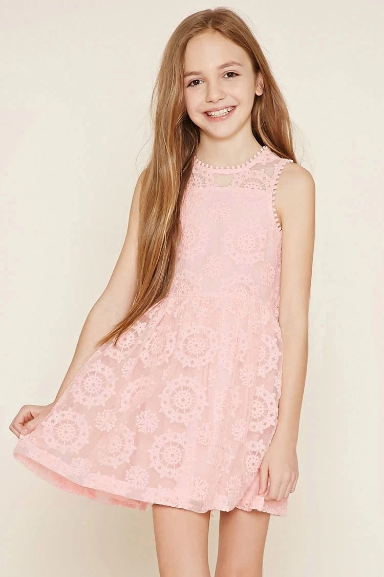 Girls Embroidered Dress (Kids) #f21kids | forever21 | Pinterest ...