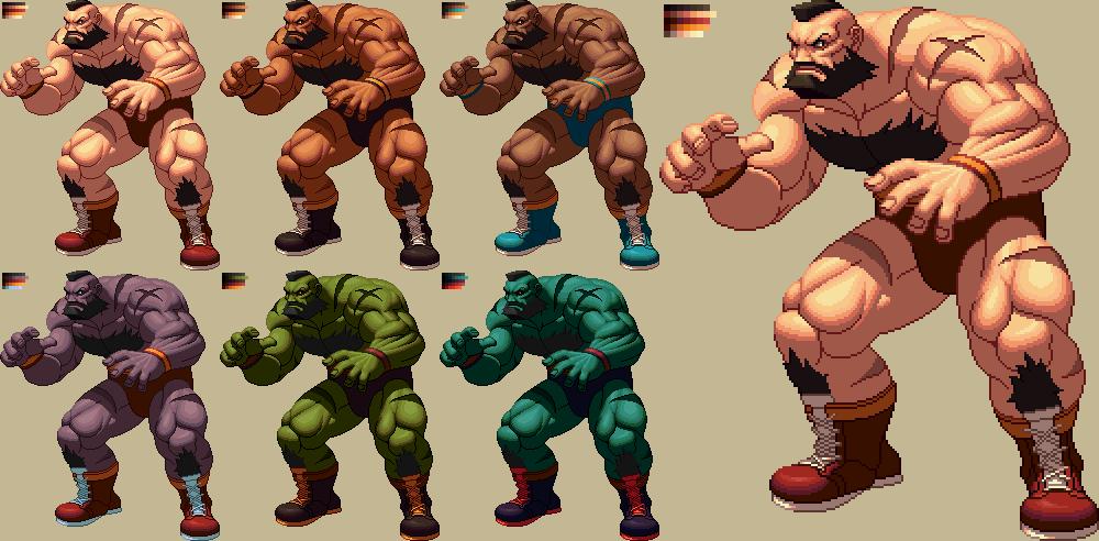 Zangief Kofxii Style By Ko Ki On Deviantart Street Fighter Pixel Art Games Artwork