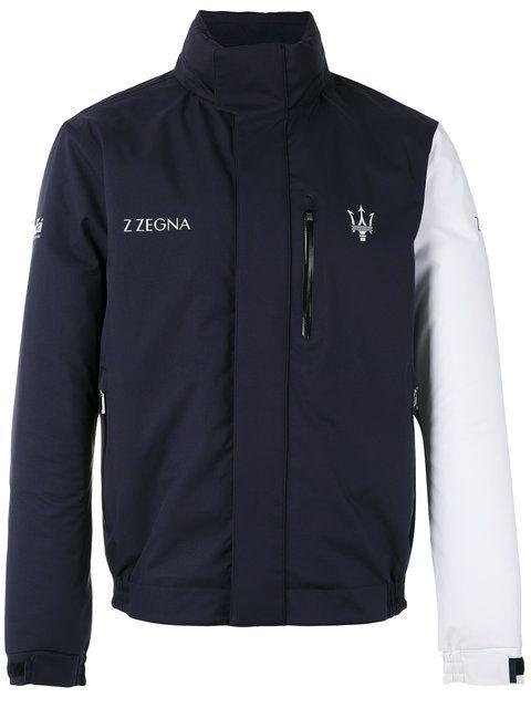 149d0927 Z ZEGNA contrast sleeve Maserati jacket. #zzegna #cloth #jacket   Z ...