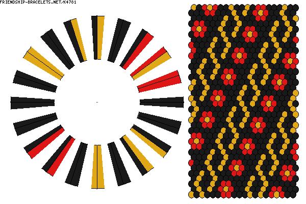K4781 - friendship-bracelets.net. 40 strings / 3 colours