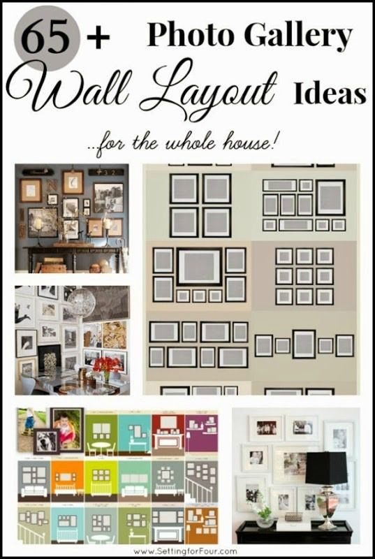 65 Plus Photo Gallery Wall Layout Ideas Collage Walls