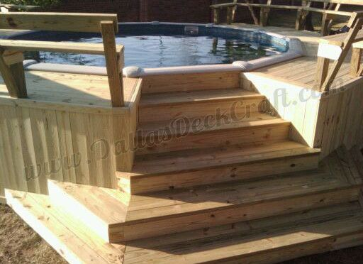 above ground pool decks not only allow easier access in and out of the water