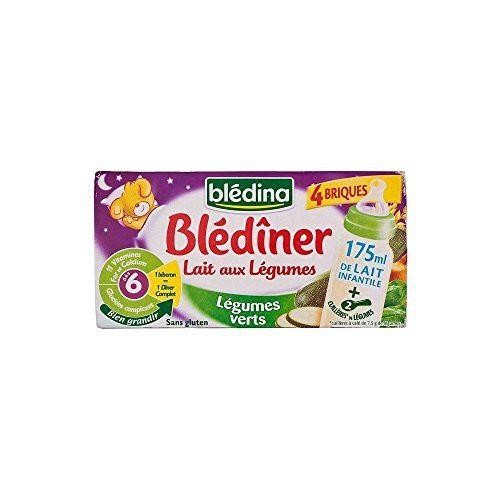 Bledina Milk with Vegetables Green Vegetables (4x250ml)