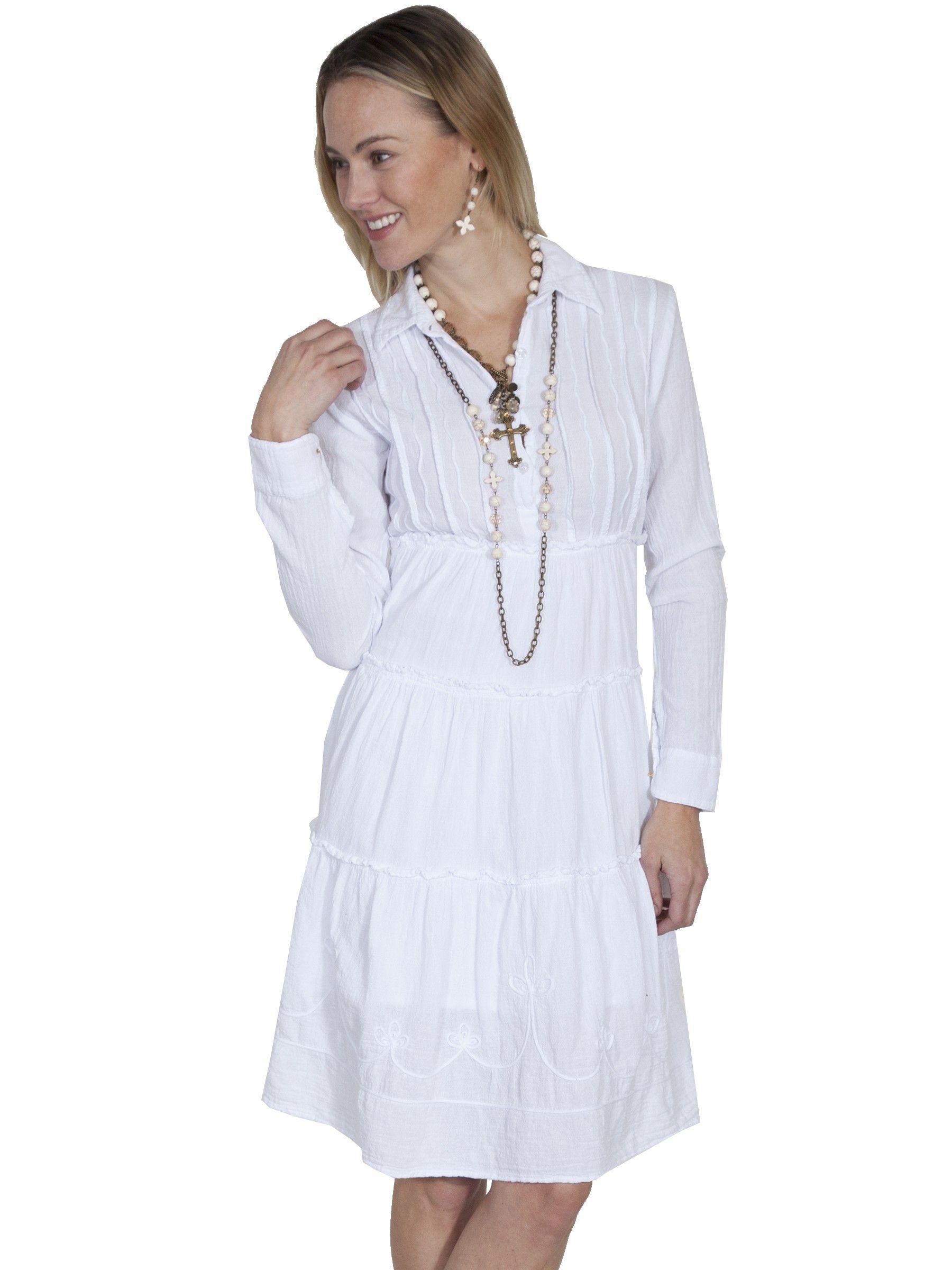 Bohemian Style Cotton Dress In White Plus Size Vintage Dresses White Dress Western Style Dresses [ 2400 x 1800 Pixel ]