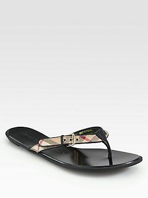 Burberry Parsons Flip Flops - s 8