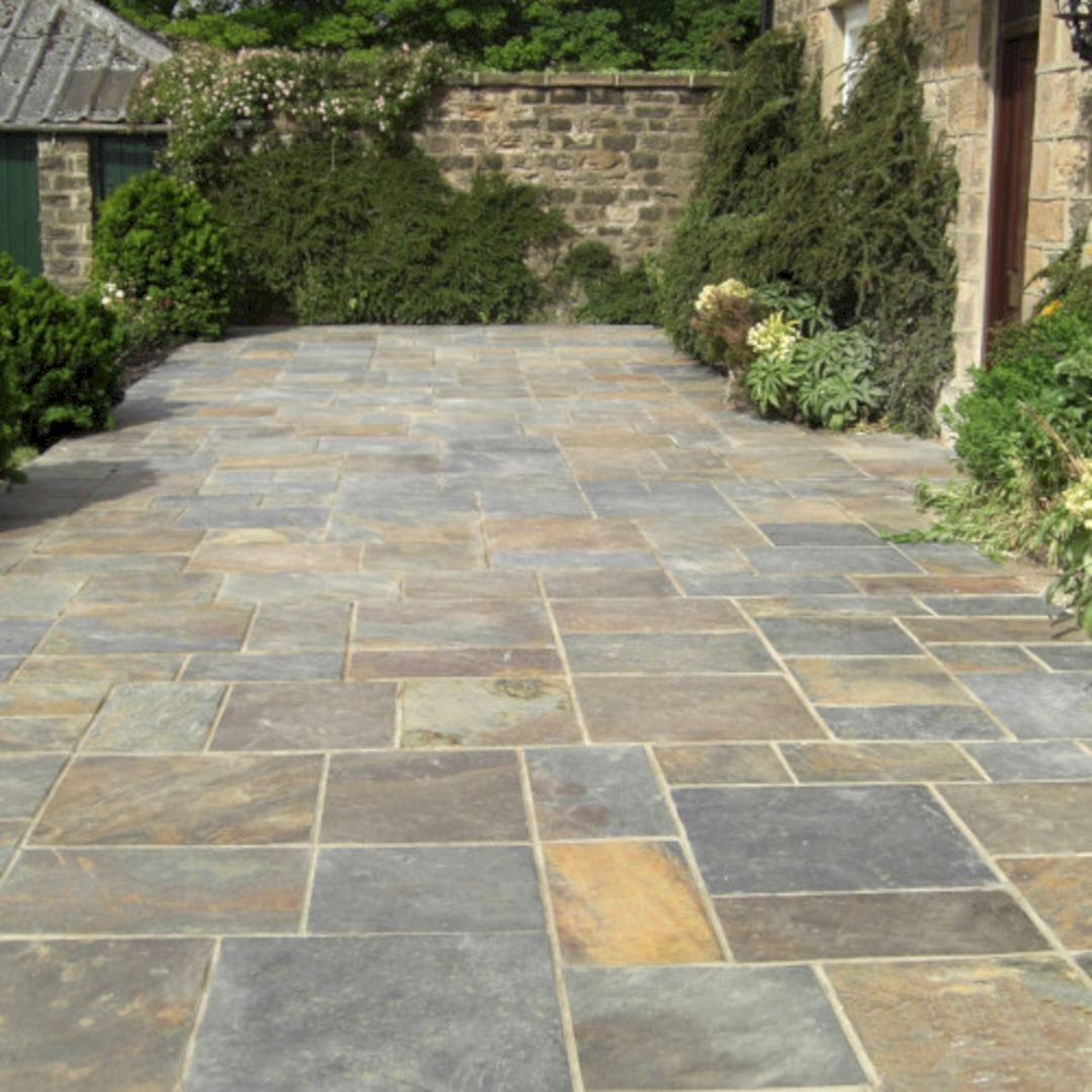 Natural Slate Pavers (Natural Slate Pavers) design ideas and photos is part of Stone patio designs, Patio stones, Paving stone patio, Patio flooring, Pavers backyard, Patio slabs - Natural Slate Pavers