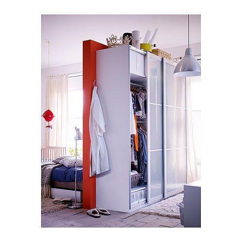 PAX LYNGDAL Jeu 2 ptes coul IKEA Porte coulissante Occupe moins de - armoire ikea porte coulissante