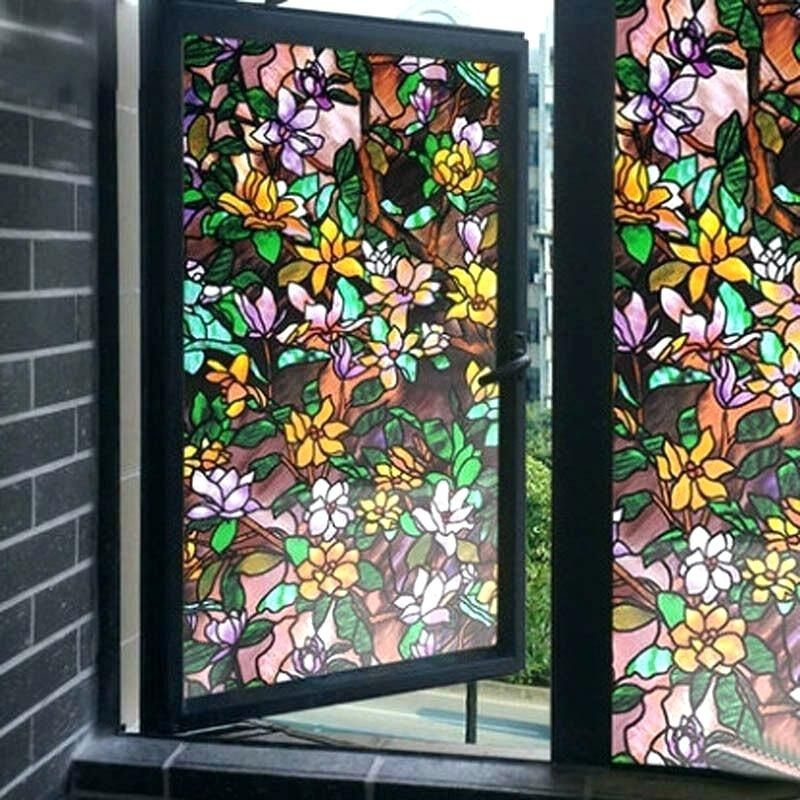 Stained Glass Decor Image 0 Decorative Window Film Home Depot