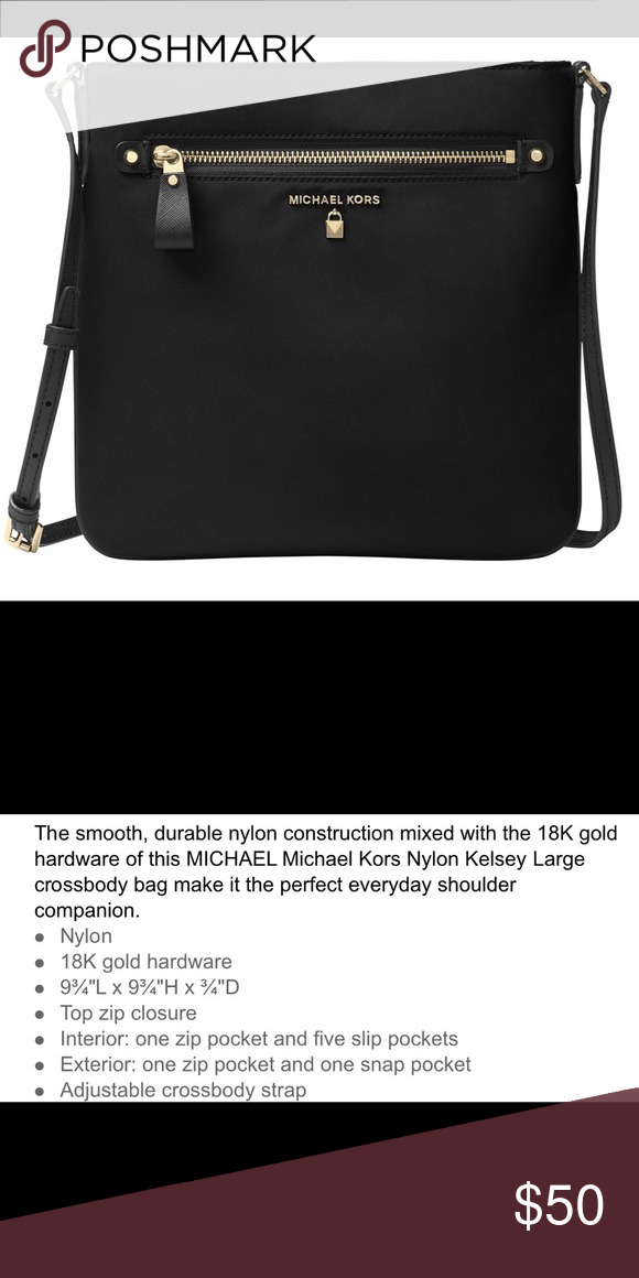 f7f161fd7149 MICHAEL Michael Kors Kelsey Nylon Black Crossbody Excellent condition.  Gently and hardly used. Great for traveling. MICHAEL Michael Kors Bags  Crossbody Bags