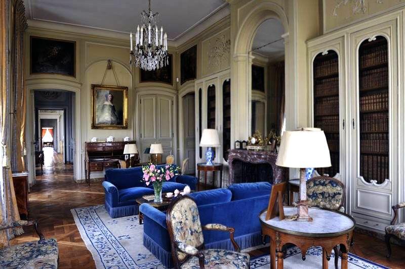Chateau De La Motte Tilly Aube Rebuilt In 1754 According To A Design By The Architect Francois Nicol French Castle Interior Classic Interior Interior Design