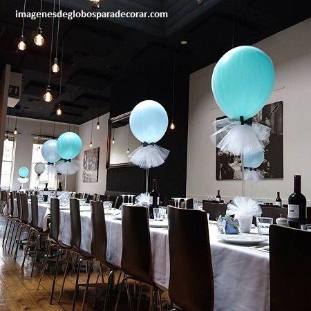 Decoracion en globos para hombres mesa ideas para el for Ornamentacion con globos