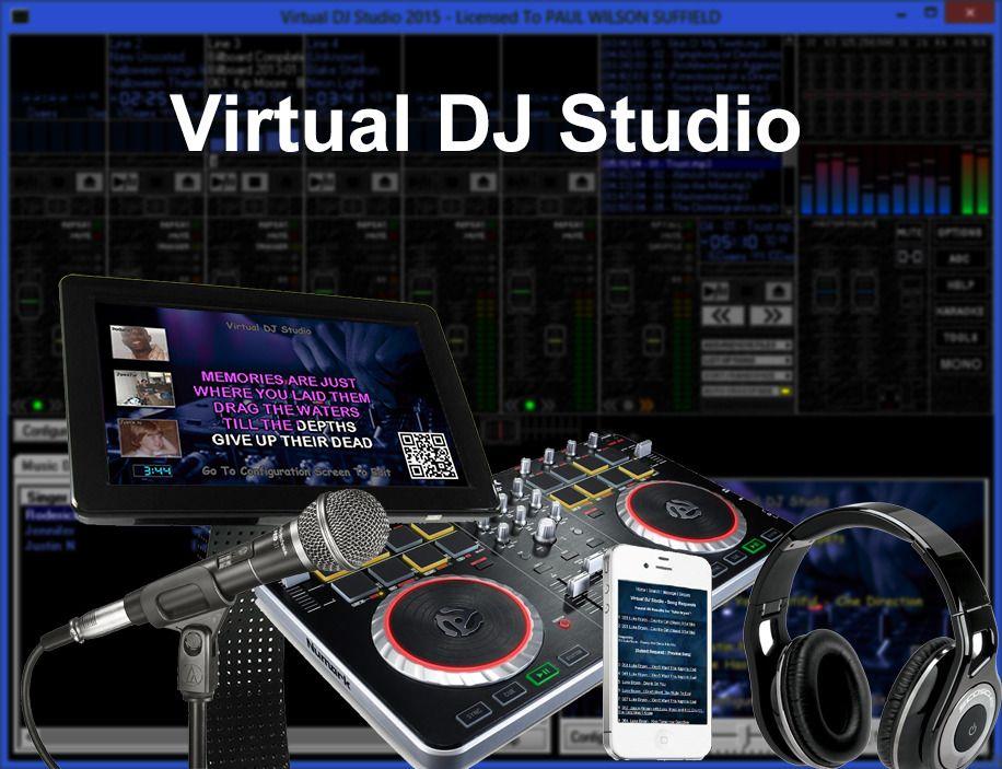 Virtual DJ Studio DJ and Karaoke system,Headphone, Singers List,Digital Delivery #vdj #karaokesystem