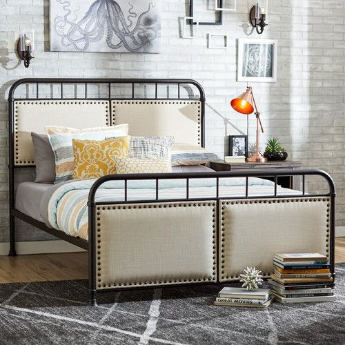 Found it at Wayfair - Tendra Queen Upholstered Panel Bed