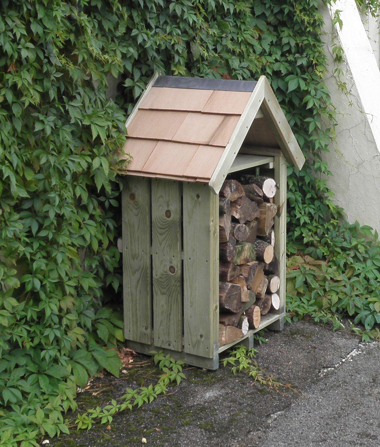 Log Store, Backyard Ideas For Small
