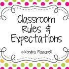 Classroom Rules and Expectations {Multi Colored Polka Dot} - Kendra Passarelli