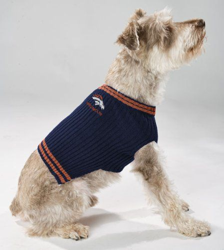 df13dcdd139 Pets First NFL Denver Broncos V-Neck Dog Sweater, X-Small >>> Additional  details at the pin image, click it : Dog sweaters