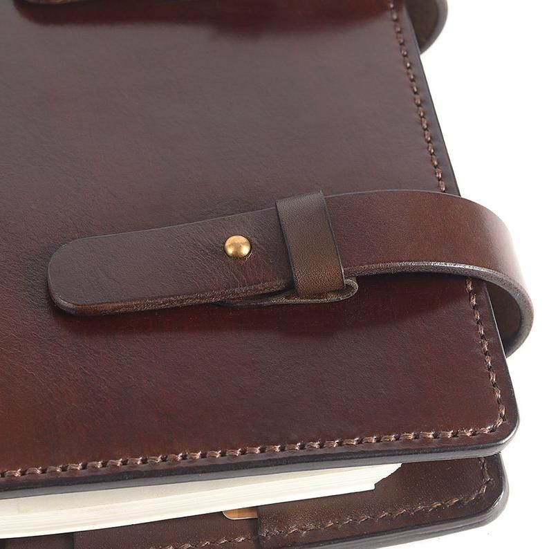 A5 Leather Journal Diary Notebook / Notepad/brown