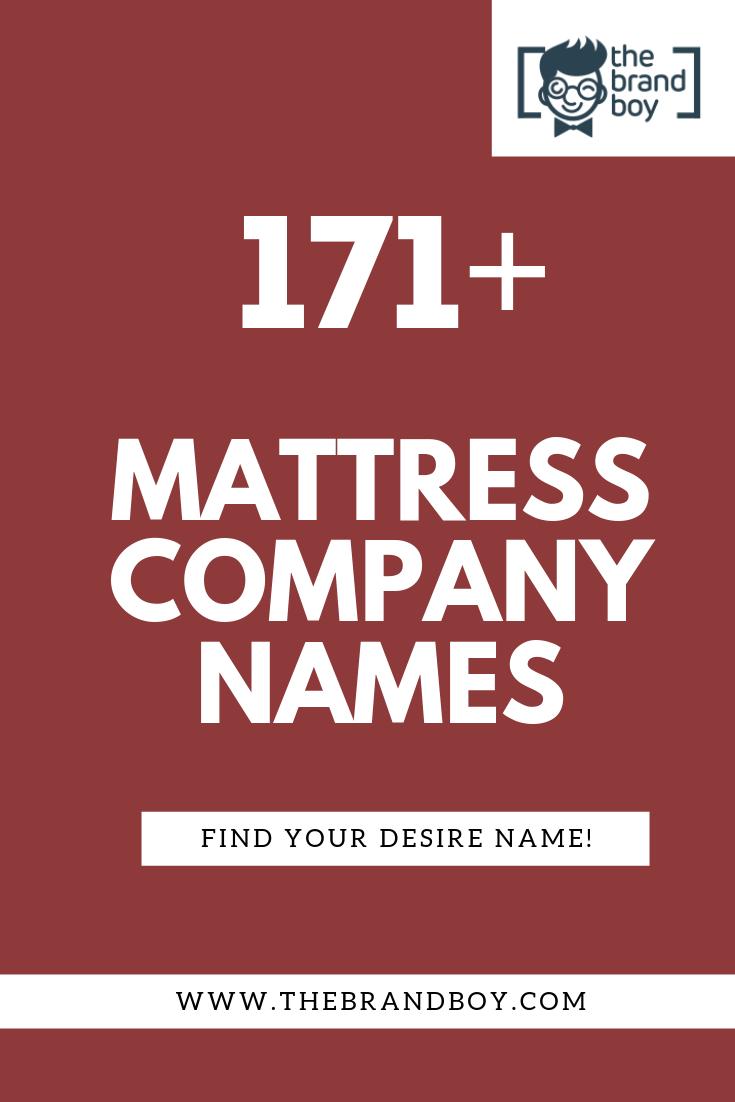 471 Best Mattress Business Names Thebrandboy Com Business Names Catchy Names Company Names