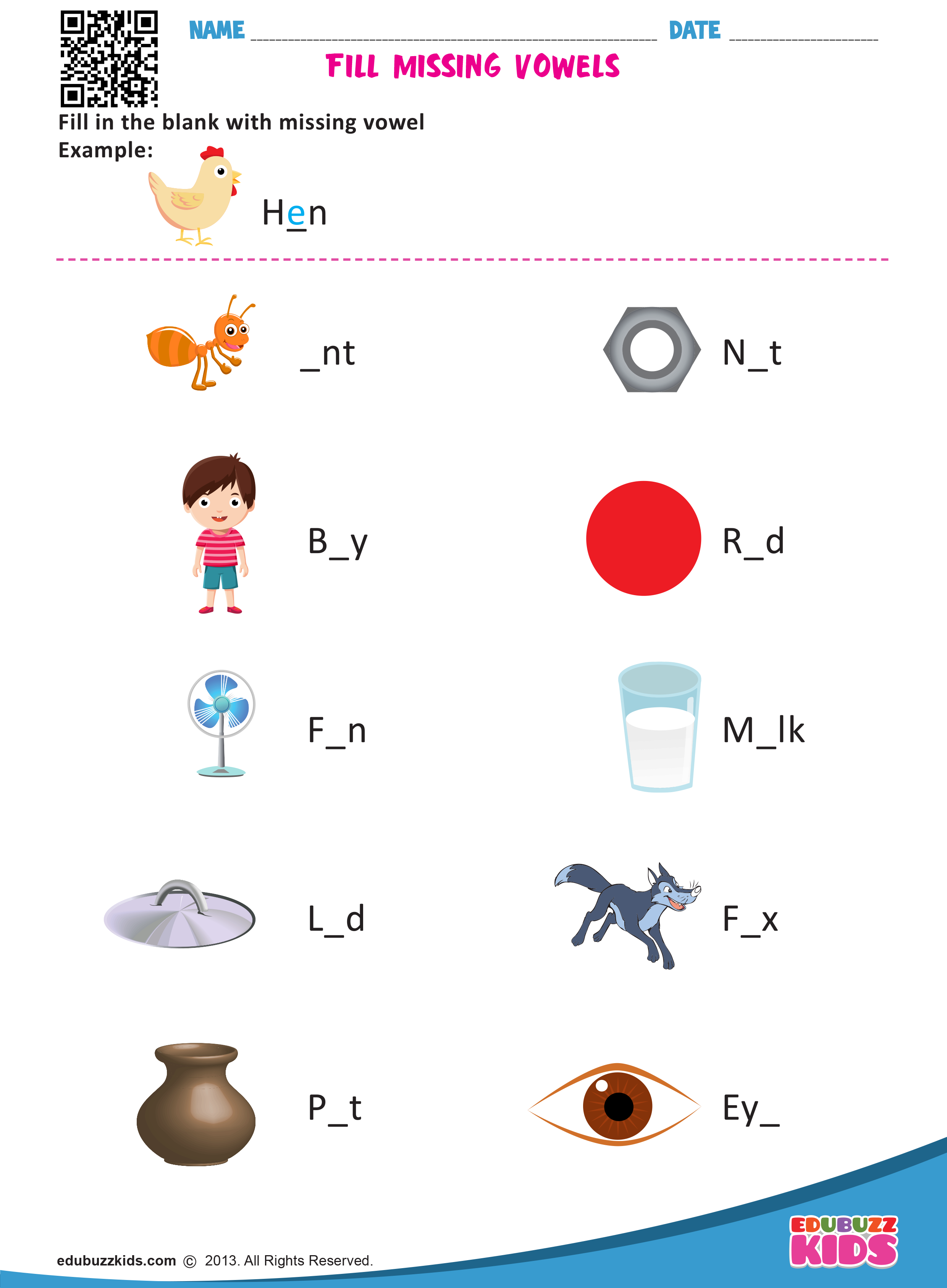 Kindergarten Sight Word Fill In The Blank Worksheets