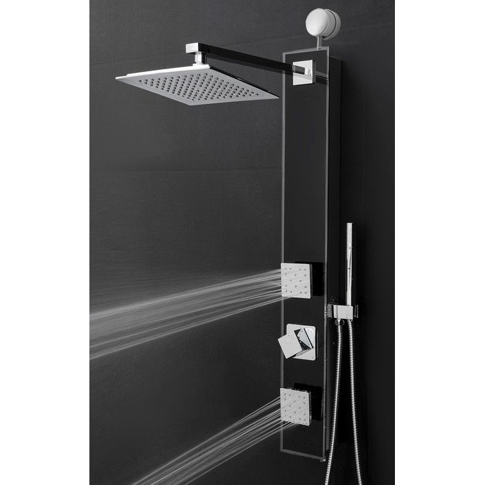 You 39 Ll Love The Temperature Control Tower Shower Panel System At Wayfair Great Deals On All Hom Shower Panels Rainfall Shower Head Bathroom Shower Panels