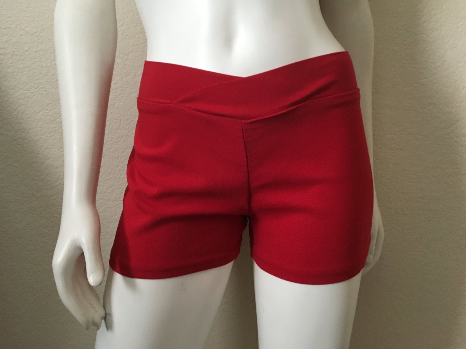 Vintage Women's 90's Red Shorts, Low Rise by Venus (S/M) by Freshandswanky on Etsy